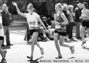 Boston marathon wave